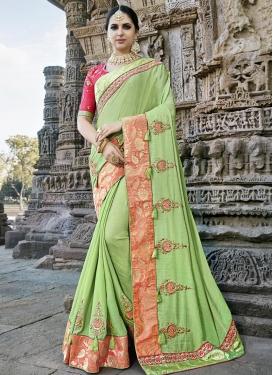 Beads Work Silk Trendy Classic Saree For Ceremonial