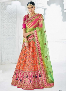 Beads Work Silk Trendy Lehenga Choli
