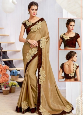 Beads Work Traditional Designer Saree For Ceremonial
