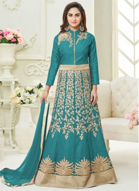 Beads Work Trendy Anarkali Suit