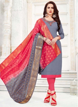Beads Work Trendy Churidar Salwar Kameez