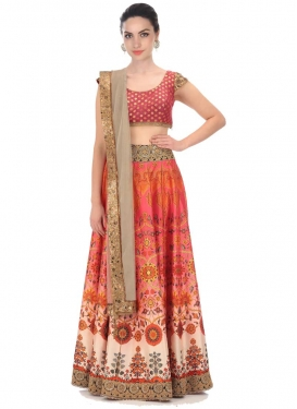 Beads Work Trendy Lehenga Choli