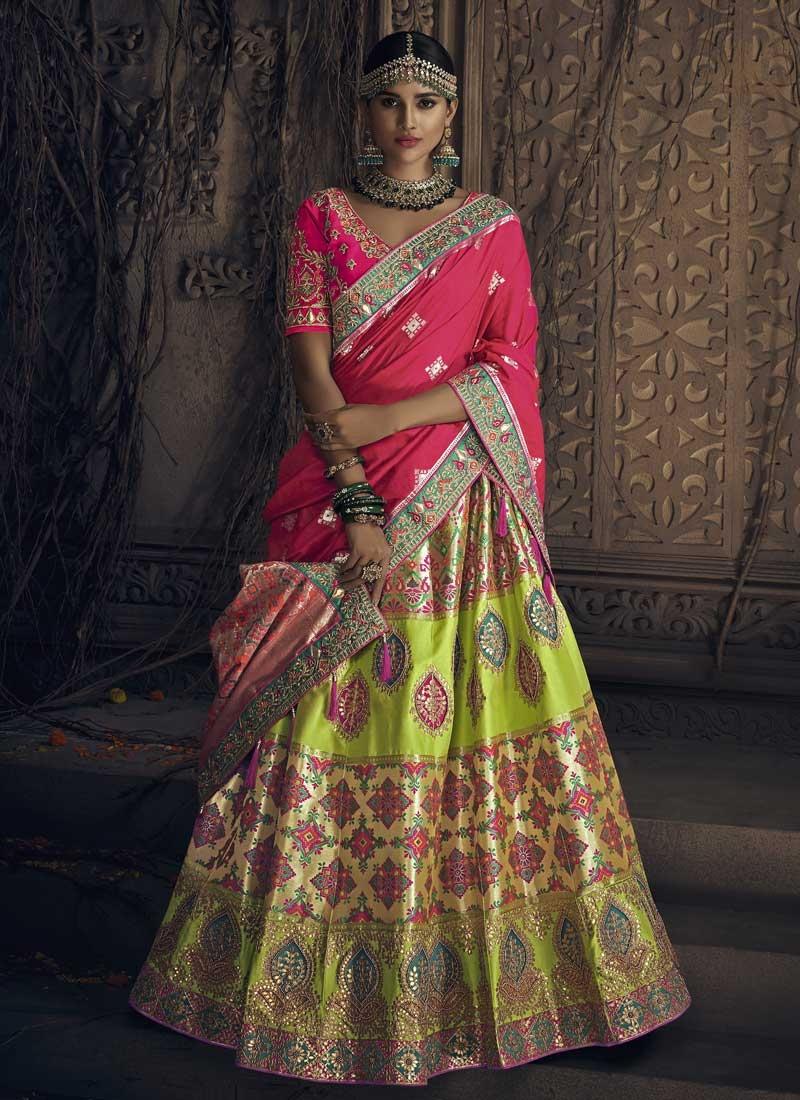 Beads Work Trendy Lehenga Choli