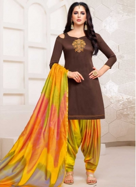 Beads Work Trendy Patiala Salwar Kameez