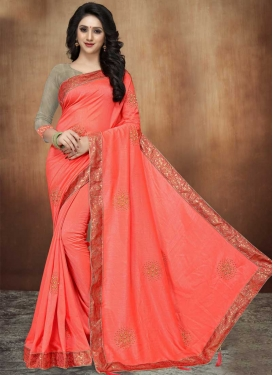 Beads Work Trendy Saree For Ceremonial
