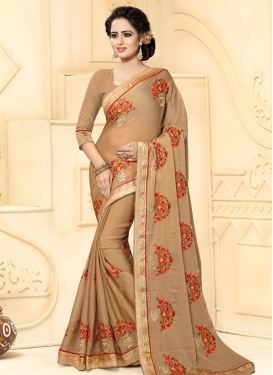 Beauteous Faux Chiffon Contemporary Style Saree For Festival