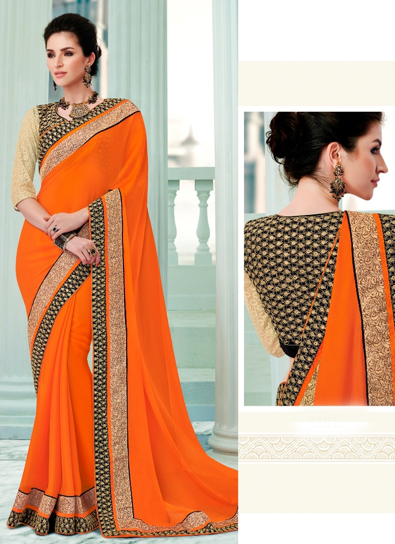Beauteous Faux Georgette Party Wear Saree