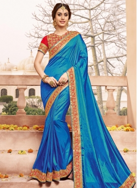 Beauteous  Lace Work Contemporary Saree