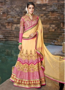 Beauteous Mirror And Patch Border Work Bridal Lehenga Choli