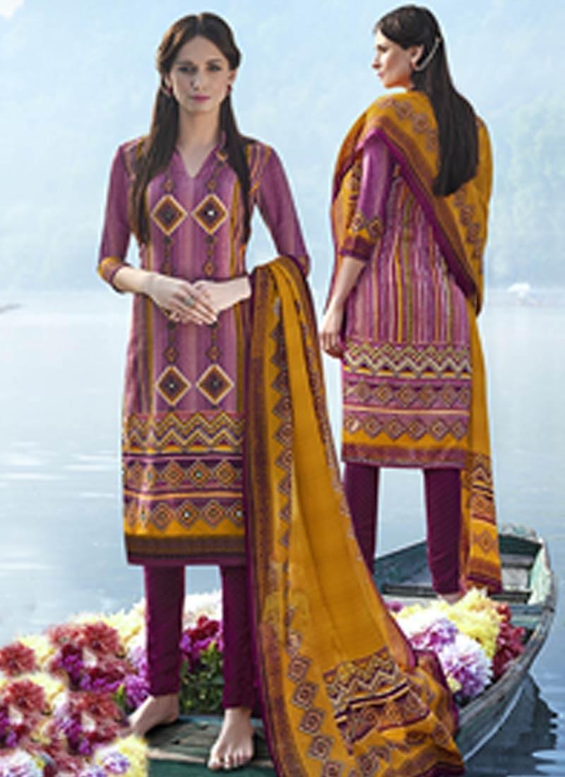 Beauteous Multi Color Pasmina Casual Salwar Suit