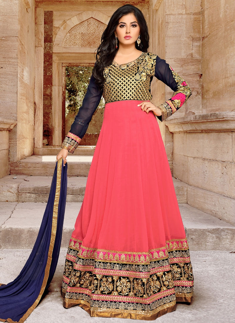 Beauteous Patch Border Work Floor Length Anarkali Suit