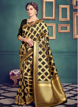 Beauteous Resham Work Jacquard Silk Contemporary Saree