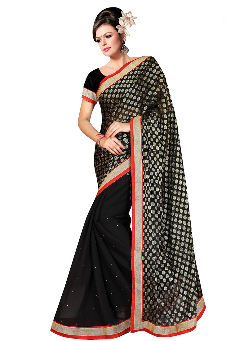 Beauteous Viscose Black Color Casual Saree
