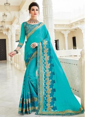 Beautiful Chiffon Satin Trendy Designer Saree