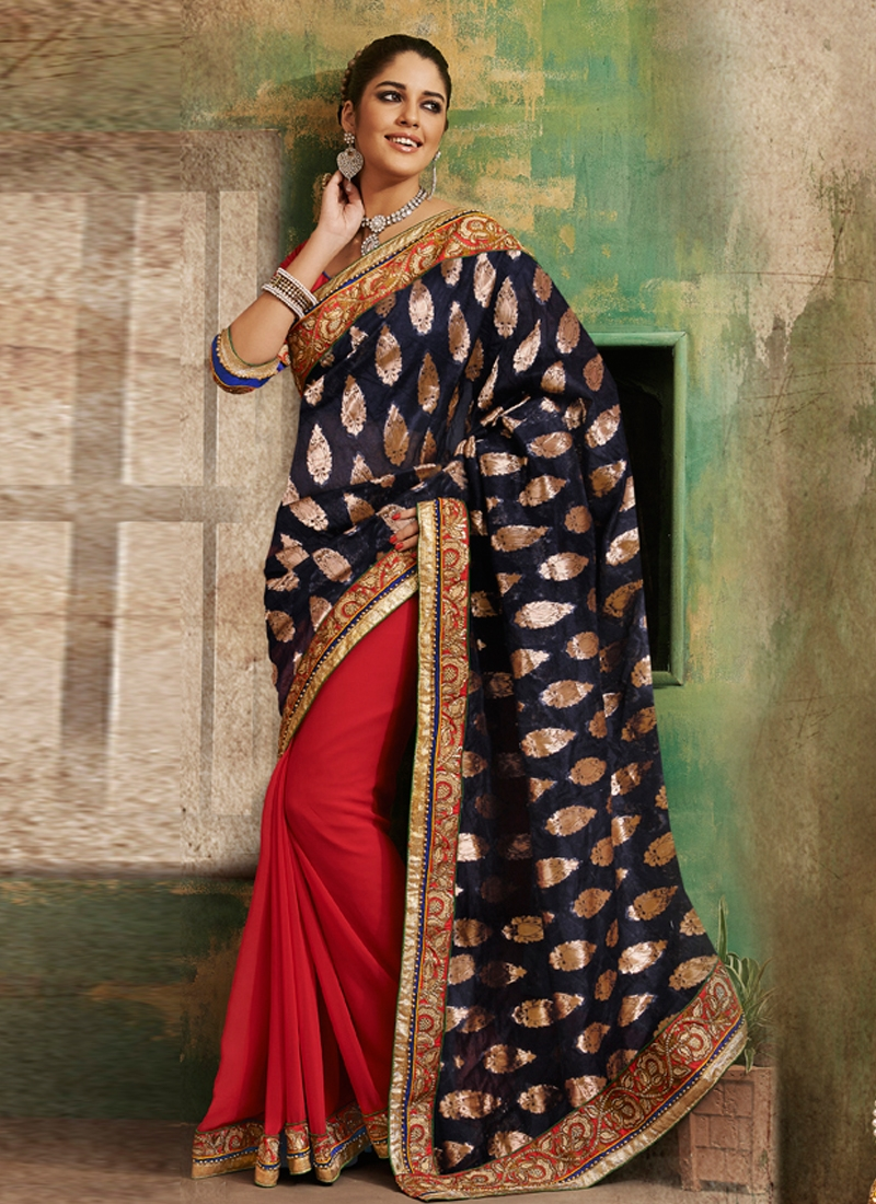 Beautiful Multi Enhanced Half N Half Saree