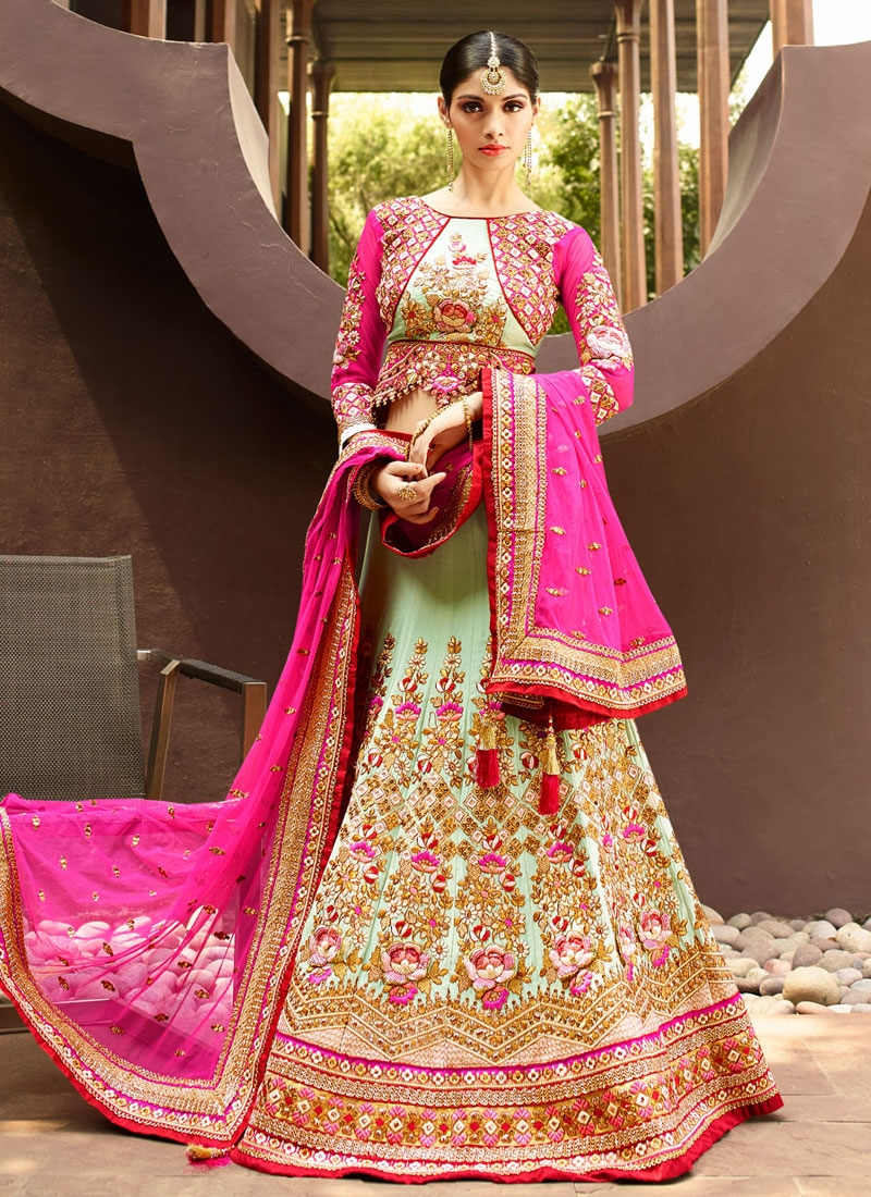 Beautiful Patch Border Work Wedding Lehenga Choli