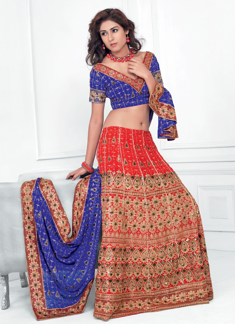 Beautiful Resham Enhanced Party Wear Lehenga Choli