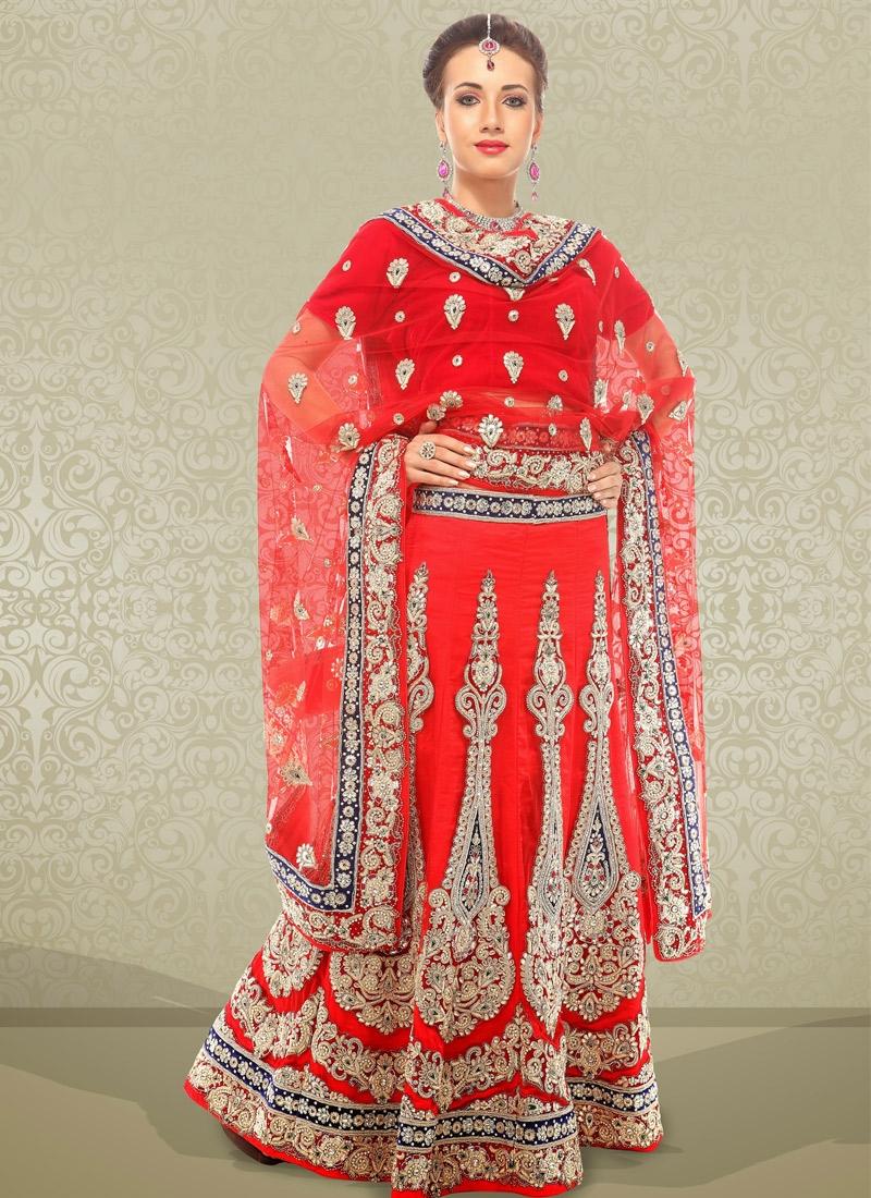 Beautiful Velvet Patch Bridal Lehenga Choli