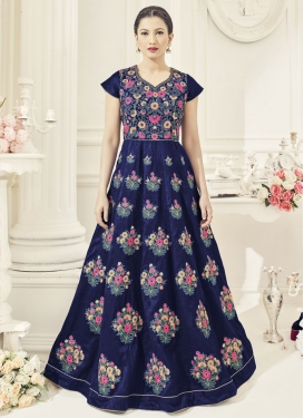 Beckoning Art Silk Gauhar Khan Flaring Anarkali Suit