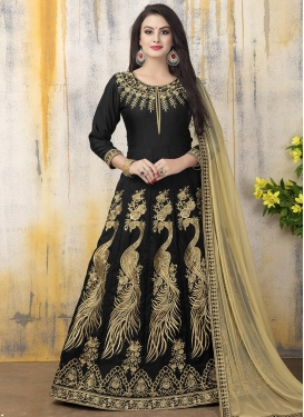 Beckoning Banglori Silk Long Length Anarkali Salwar Suit