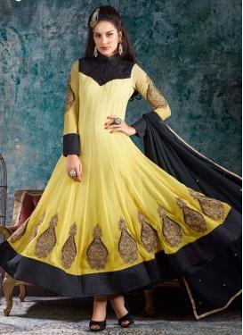 Beckoning Booti Work Flaring Style Anarkali Salwar Kameez
