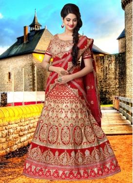 Beckoning Embroidery Work Bridal Lehenga Choli