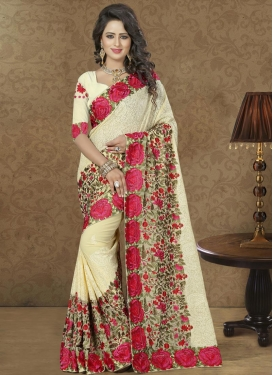 Beckoning  Faux Georgette Trendy Saree For Party