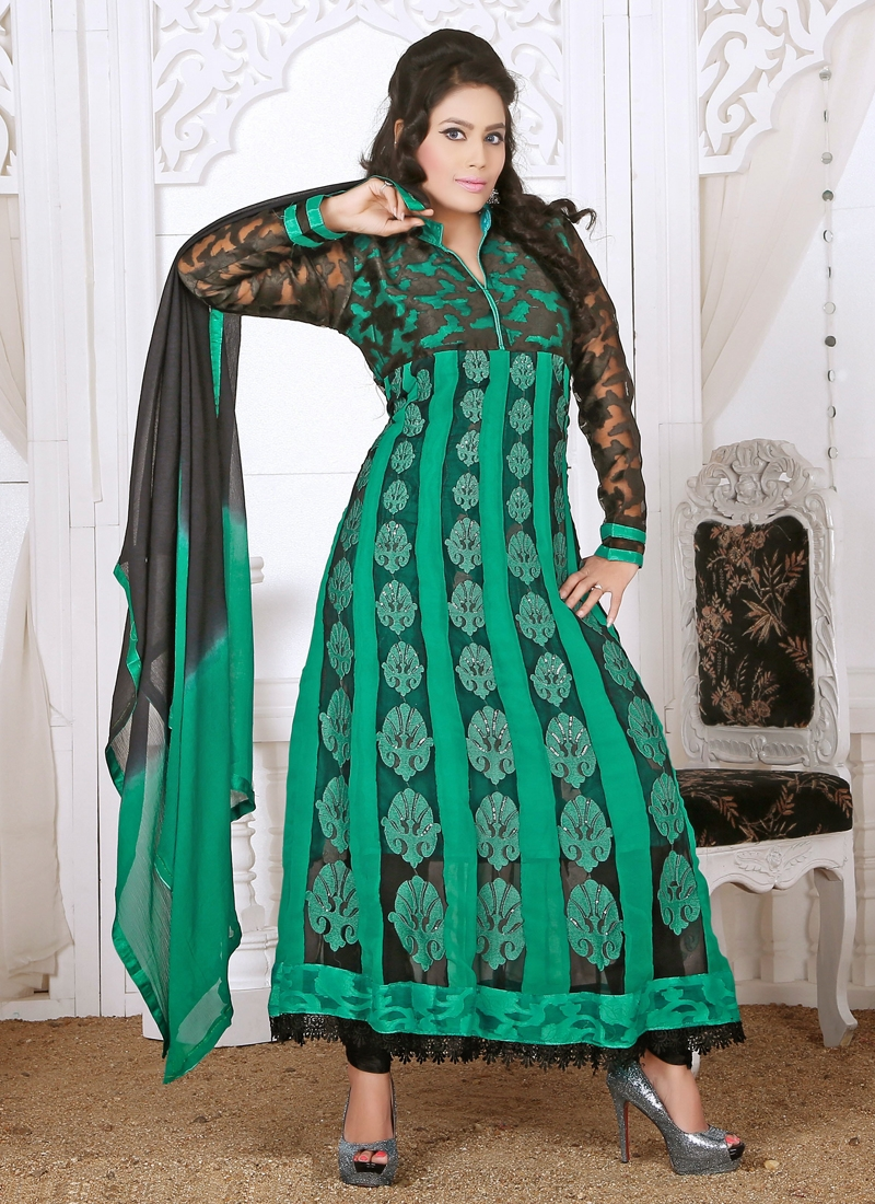 Beckoning Georgette Readymade Churidar Suit