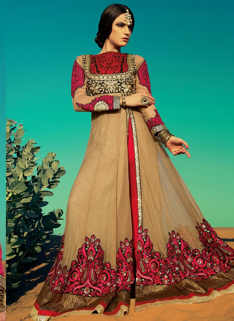 Beckoning Patch Work Net Designer Salwar Kameez