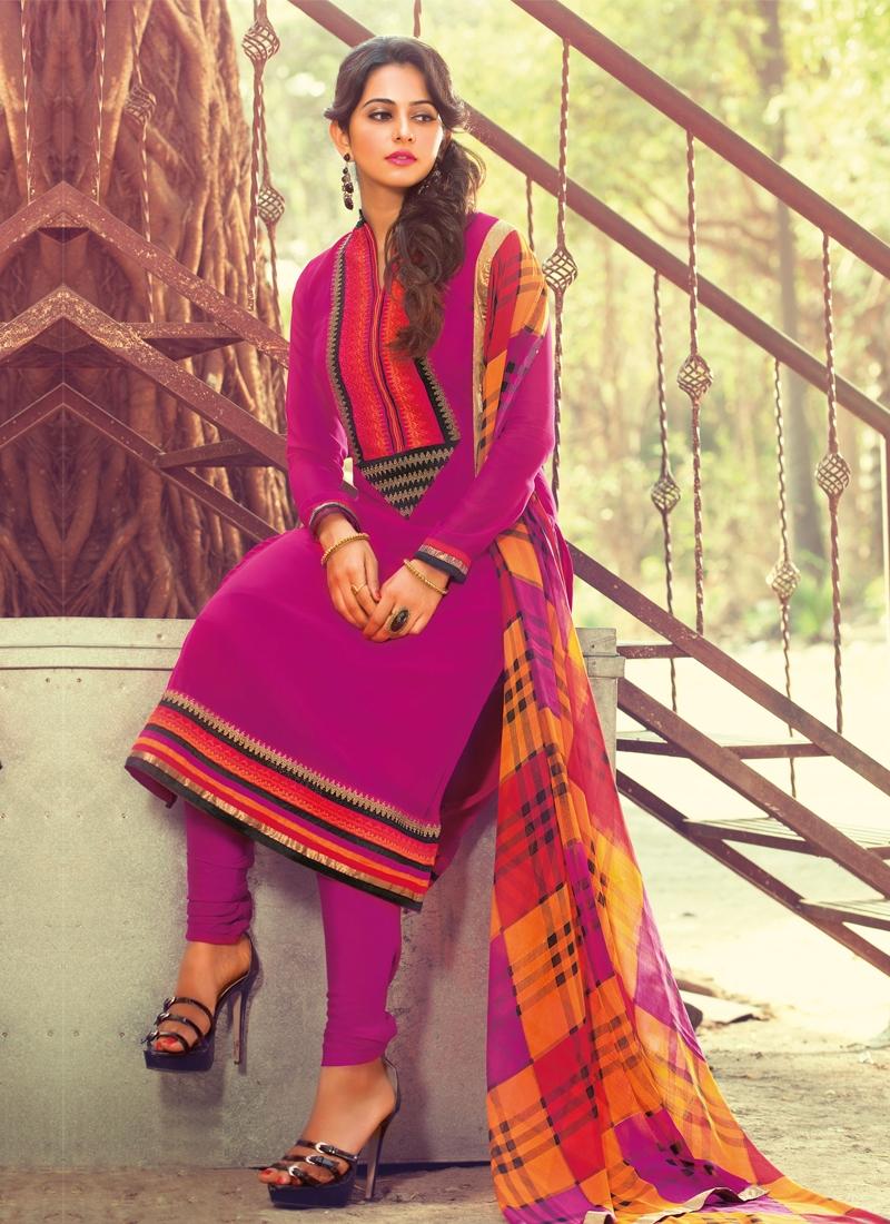 Beckoning Resham Enhanced Churidar Salwar Suit