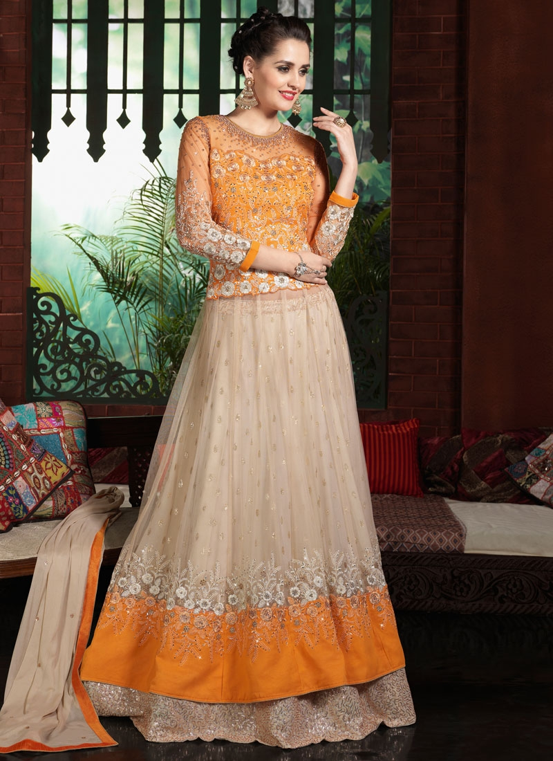 Beckoning Stone And Sequins Work Designer Lehenga Choli