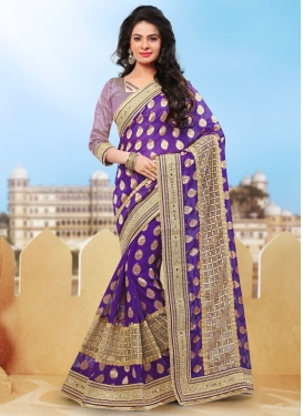 Beckoning Viscose Mirror Work Designer Saree