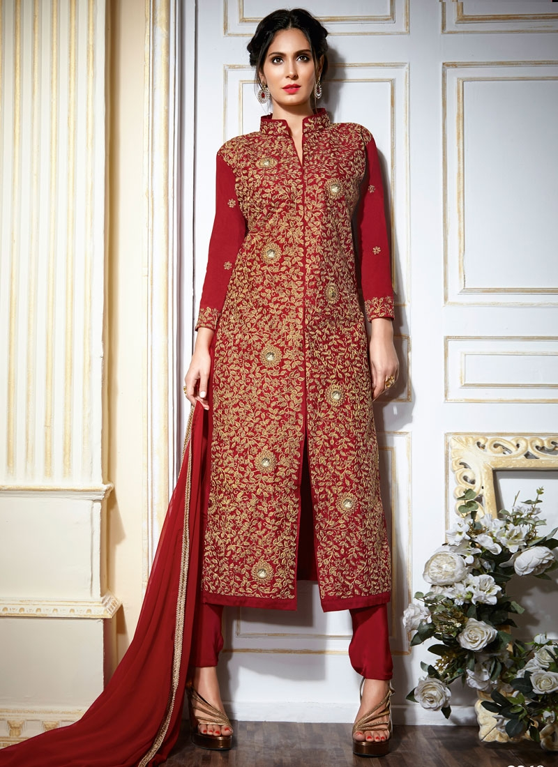Bedazzling Art Silk Wedding Salwar Kameez