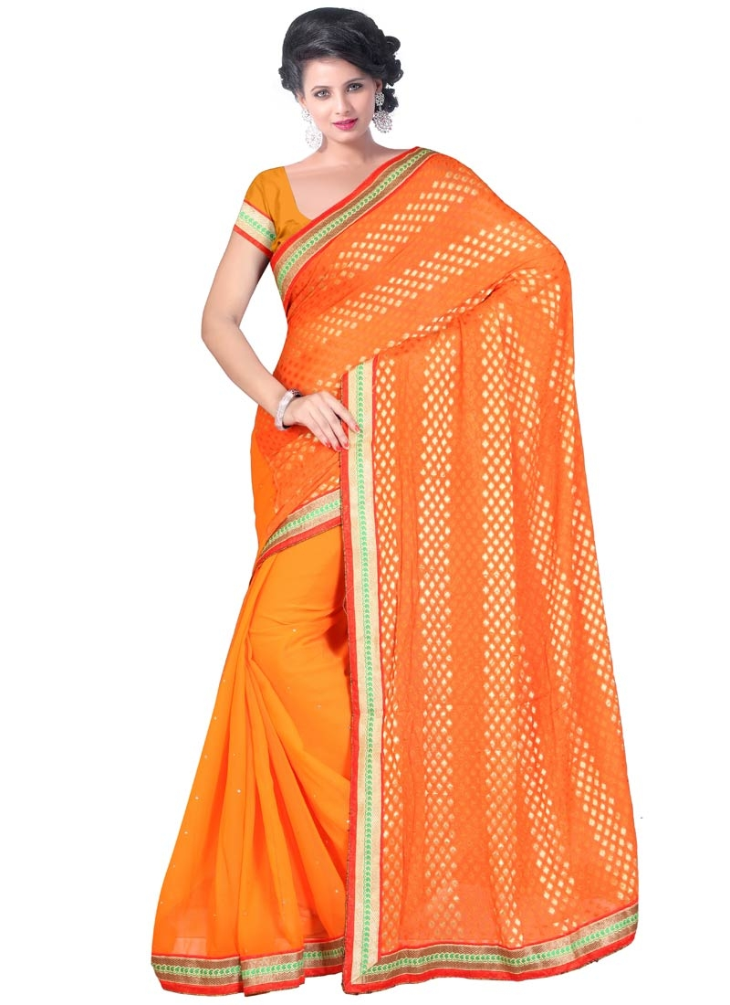 Beguiling Faux Chiffon And Viscose Party Wear Saree