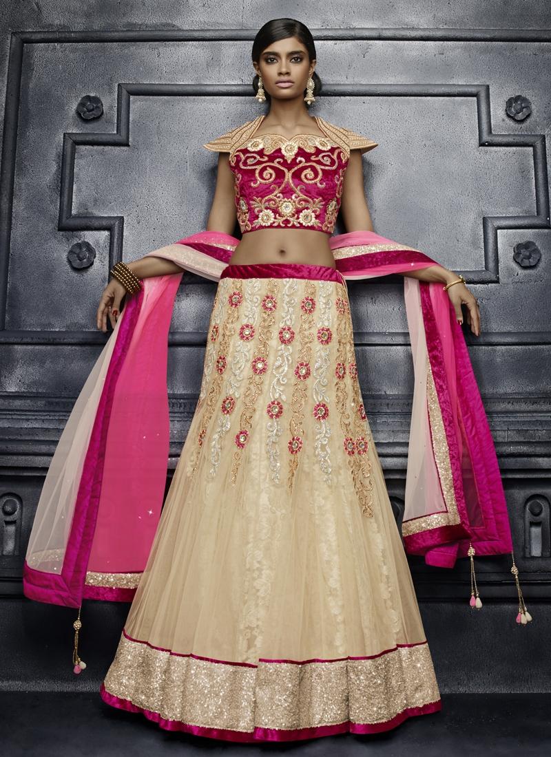 Beguiling Sequins Work Bridal Lehenga Choli