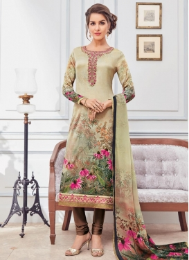 Beige and Brown Pakistani Salwar Suit