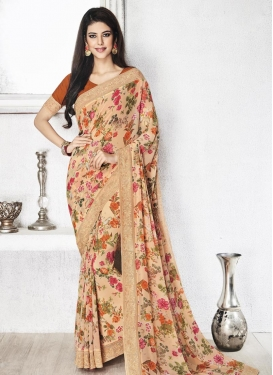 Best Faux Georgette Classic Saree For Ceremonial