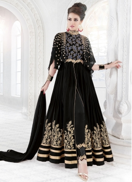 Best Faux Georgette Embroidered Work Pant Style Designer Suit