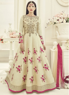 Best Gauhar Khan Embroidered Work Flaring Anarkali Salwar Suit