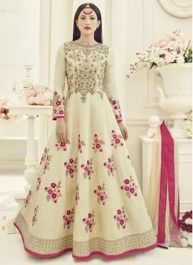 Best Gauhar Khan Embroidered Work Flaring Anarkali Salwar Suit