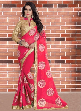 Bewildering  Beads Work Designer Contemporary Style Saree
