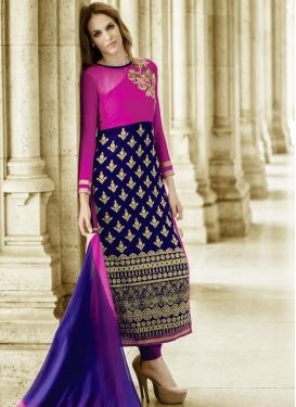 Bewildering Embroidery Work Designer Salwar Suit