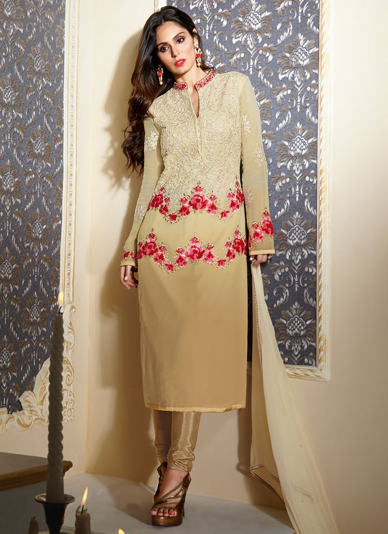 Bewildering Floral Work Party Wear Salwar Kameez