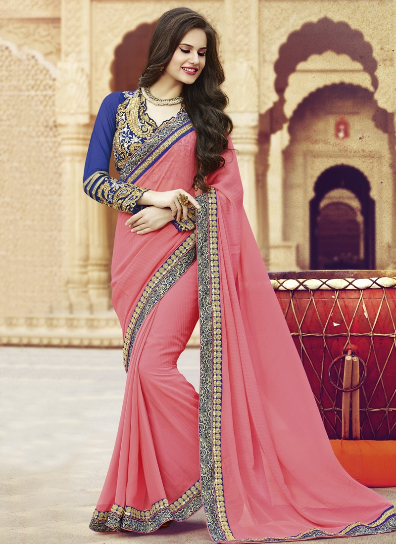 Bewildering Lace Work Party Wear Saree