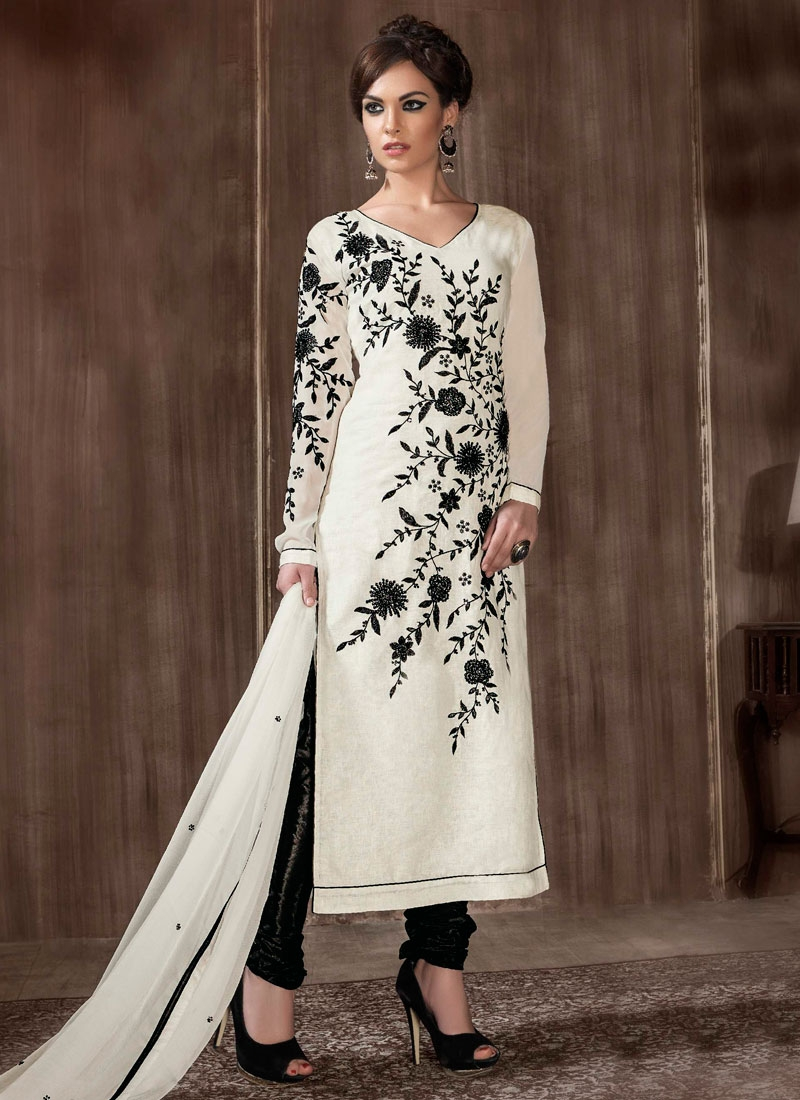 Bewildering Off White Color Party Wear Salwar Kameez