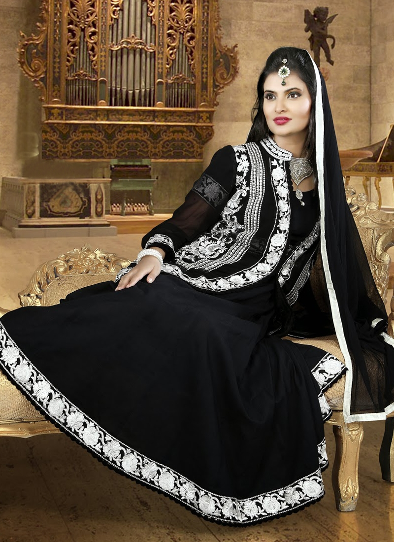 Bewitching Black Party Wear Salwar Suit