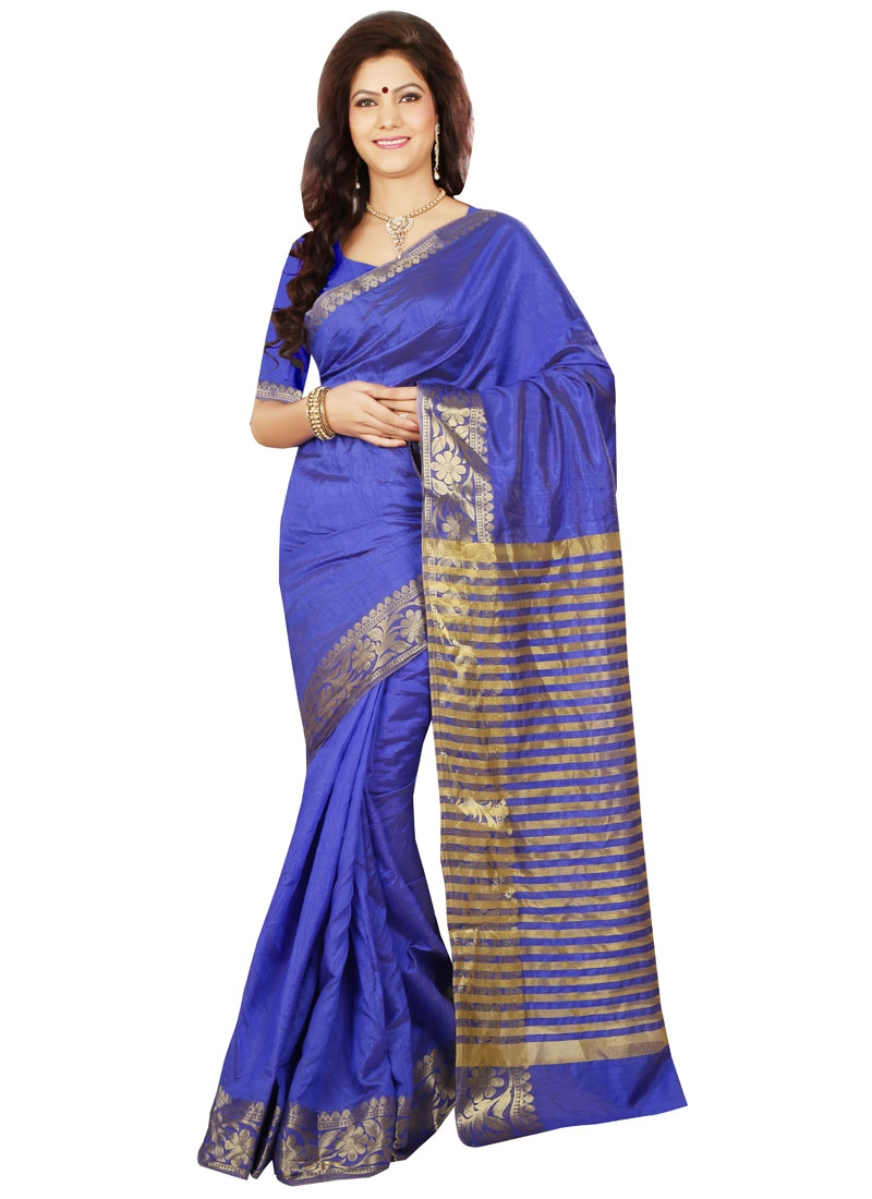 Bewitching Blue Color Casual Saree