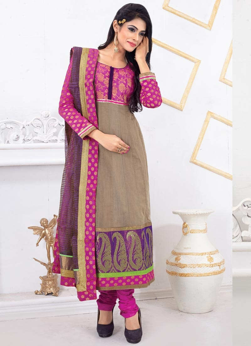Bewitching Chanderi Cotton Casual Salwar Suit