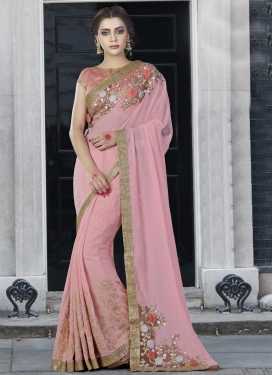Bewitching  Embroidered Work Trendy Classic Saree