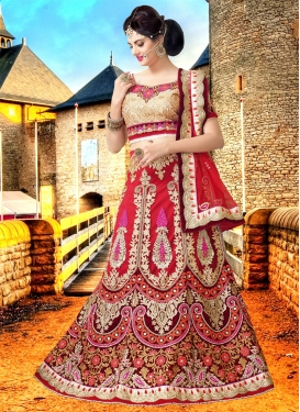 Bewitching Green Color Net Bridal Lehenga Choli
